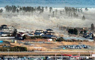 Высота цунами в Японии достигала 20 метров