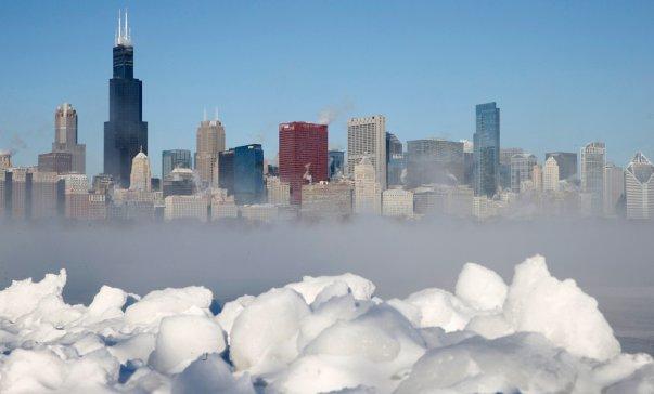 Снегопад и заморозки в США (фото)