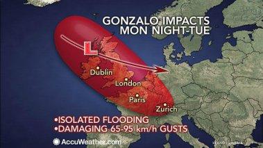 Ураган «Гонсало» обрушит дожди и сильный ветер на Европу
